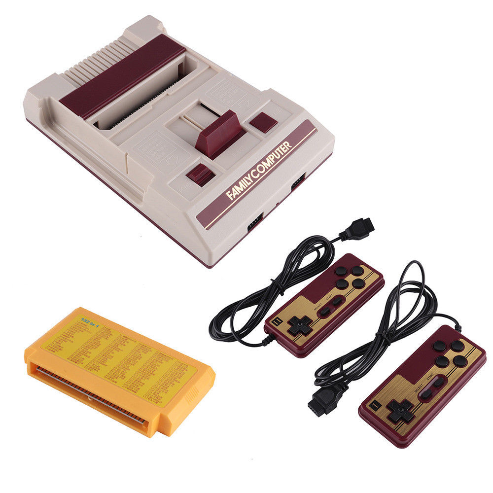 8Bit Classic Retro Console Game 80s Built In 250 Games+ game card+2 Gamepad
