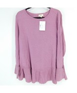 Style & Co Women's XL Sweater Crewneck Ribbed Pullover Purple knit - $48.51