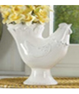 Vase Hen shaped White Dolomite. fits any decor - $19.87