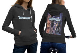 Robocop Black Cotton Hoodie For Women - $29.99+