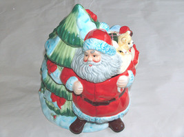 """2006 Gibson Holiday Collection 10"""" Greeting Santa Claus Ceramic Cookie Jar W/BOX - $35.90"""