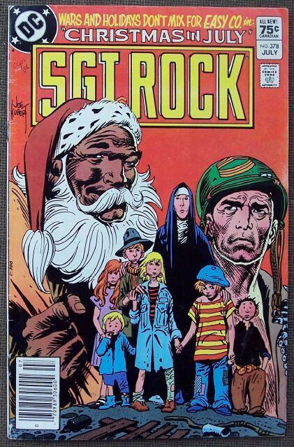 Comic DC Sgt Rock  No 378 July 1983 with Easy Co. in Christmas in July