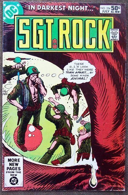 Comic DC Sgt Rock  No 354 July 1981