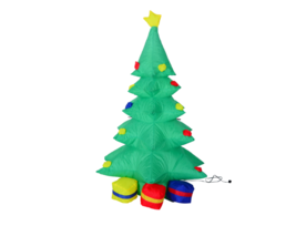 4 Ft Tall Outdoor LED Lighted Airblown Inflatable Christmas Tree Yard Decor - $57.91