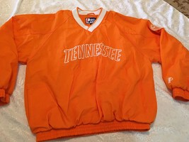 TENNESSEE Pro Player Pullover Jacket Sweatshirt Windbreaker Pockets Sz L - $24.35