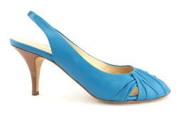 GIUSEPPE ZANOTTI SIZE 7.5 Turquoise Blue Slingback Heels Pumps Shoes 38 - €90,44 EUR