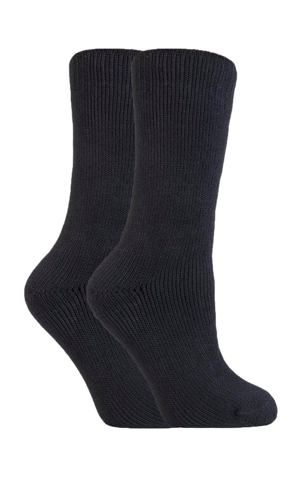 Heat Force - 2 Pack Womens Winter Warm Thick Thermal Crew Socks, 3 Colors, 5-9US