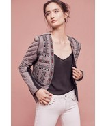 NWT ANTHROPOLOGIE CARMELITA FUR CROPPED JACKET BLAZER by CONDITIONS APPLY S - $101.99