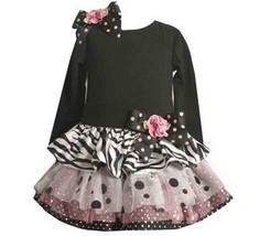 Adorable Dressy Bonnie Jean Tutu Dress Black & White Zebra, Polka Dots 3... - $26.99