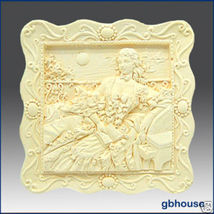 2D Silicone Soap Mold – Portrait of a Countess - $26.00