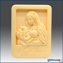 Silicone Soap Mold – Mother and Child in Niche Frame - $30.00