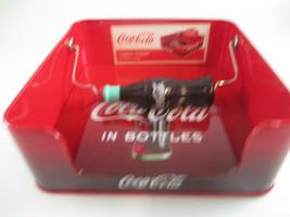 Coca-Cola Tin Napkin Holder Red With Bottle Coca-Cola in Bottles Logo - $9.41