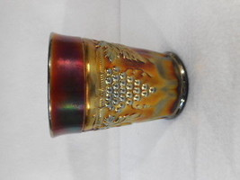 CARNIVAL GLASS - NORTHWOOD Grape & Cable Amethyst Tumbler - $59.35