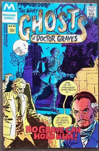 Comic Modern Ghosts of Doctor Graves No 12 1978