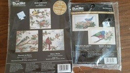 Bucilla Counted Cross Stitch Set of Three 5 x 5 Birds and Blossoms New - $24.49