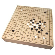 Maple Wood Go Game Set w/ Storage Large Tournament Size Board 18.25x17.1... - $148.99