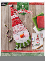 "Bucilla Felt Wall Hanging Applique Kit 15""X21.5""-Nordic Snowman - $39.16"