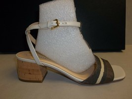 Cole Haan Size 8.5 M LUCI LOW Striped Chesnut Leather Sandals New Womens... - $177.21