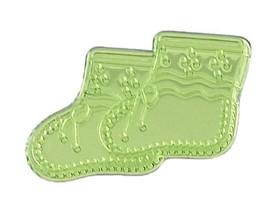 Booties Acrylic Charm-Apple Green - $9.85
