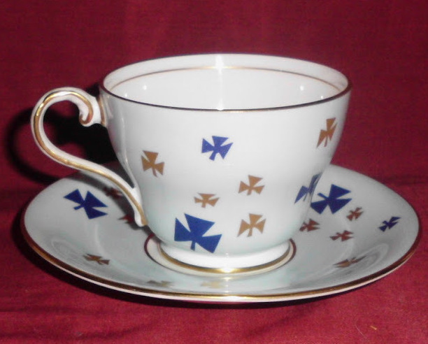 Aynsley Blue Gold Cup and Saucer Heritage Collector