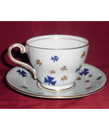 Aynsley Blue Gold Cup and Saucer Heritage Collector - $25.00