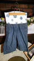 Gap Maternity Blue Jean Shorts Size 2 Cotton Euc - $10.99