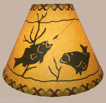 fish rustic lamp shade