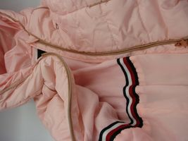 EUC Tommy Hilfiger Little Girls Hooded Puffer Jacket Size 5 Pink image 6