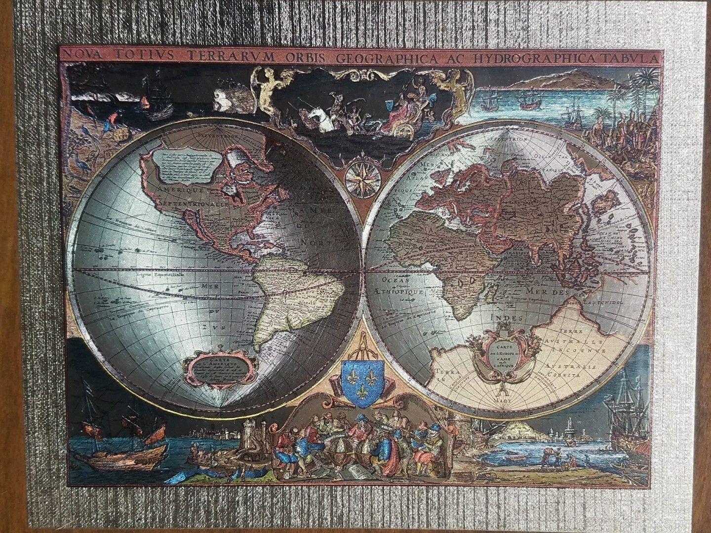 NOVA TOTIUS TERRARUM ORBIS GEOGRAPHICA AC HYDROGRAPHICA TABULA 1630 WORLD MAP
