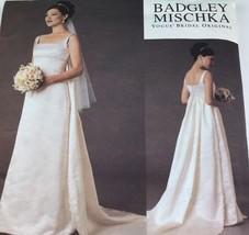 Vogue Bridal Plus Sizes Original Badgley Mischka 18 20 22 Bust 40 44 Unc... - $12.73