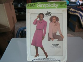 Simplicity 8162 Misses Knit Pullover Top & Skirt Pattern - Size S (10-12) - $5.93
