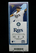 Seattle Mariners vs Tampa Rays Game 52 MLB Ticket w Stub 07/21/2012 Shields - $8.17