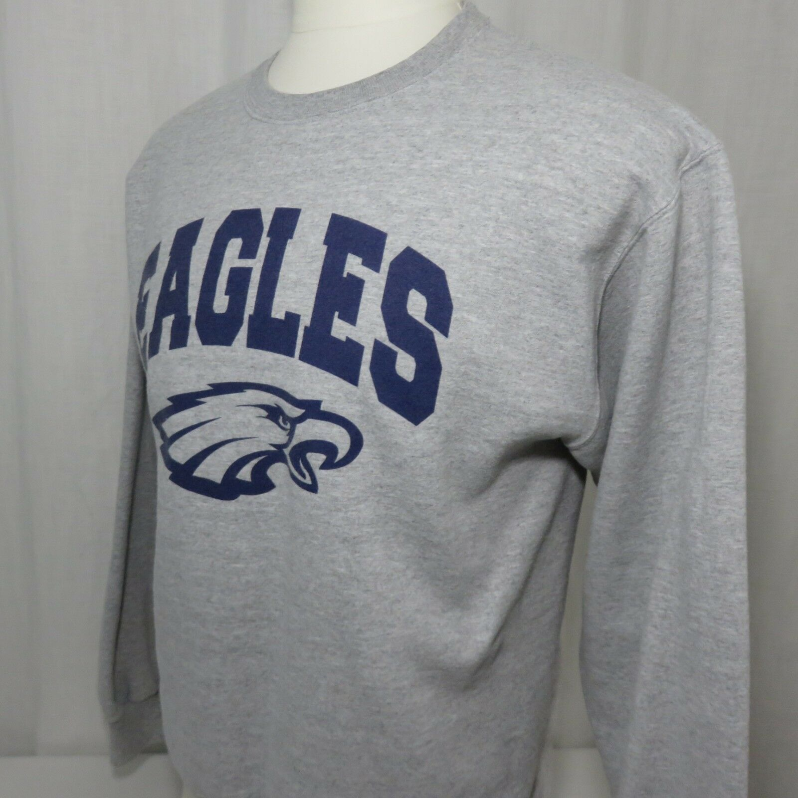 Vintage Champion Philadelphia Eagles Crew Neck Sweatshirt M Gray