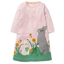 Baby Christmas Dress Girls Dress Clothes Vestidos Animal Appliques Princ... - $17.99
