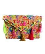Lonika crossbody bags for women Boho Chic Handmade Embroidery Creem bag - $11.14