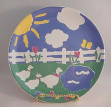 Porta Libby Wilkie Decorative Salad Plate Hippity Hop Easter Ducks Portugal - $18.76