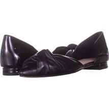 Donald J Pliner Pennie Knotted Ballet Flats 221, Black, 6.5 US - $77.17