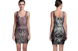 Tatoo Collection #3 Women's Sleevless Bodycon Dress - $21.80+