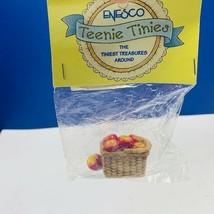 Enesco Teenie Tinies Treasure SEALED miniature figurine ornament apples basket 2 - $14.50