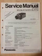 Panasonic service manual simplified for WV-BLR730 WV-BLR734 CCTV camera - $10.84