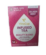 VitaCup Beauty Blend Infused Herbal Tea w/Collagen Biotin & Folic Acid 1... - $15.84