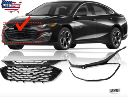 Fit For 2019 2020 Chevrolet Malibu Front Upper Grille Lower Grille Chrom... - $355.29