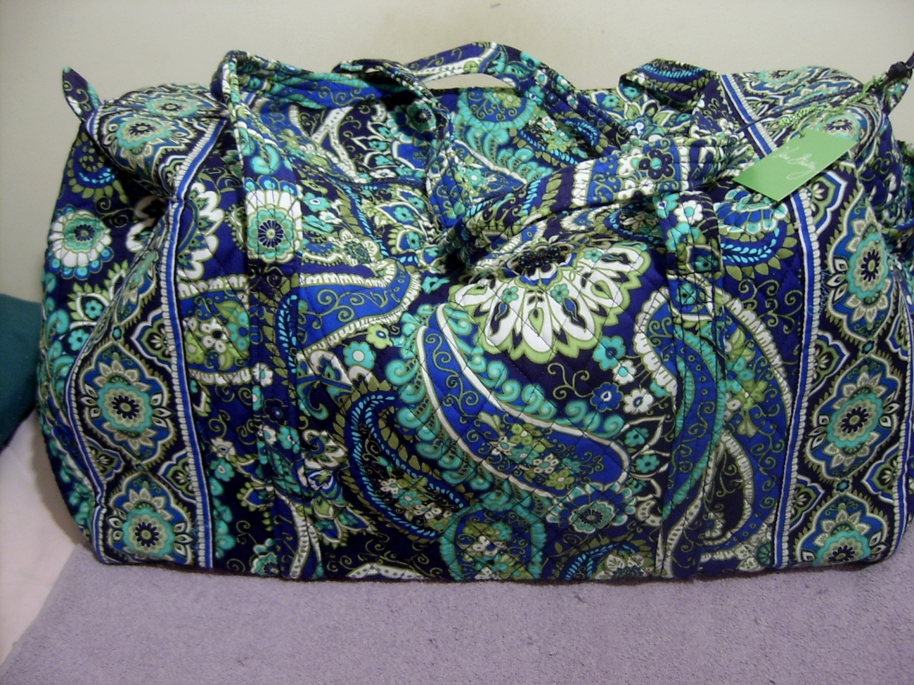 Vera Bradley Large Duffel Rhythm & Blues New