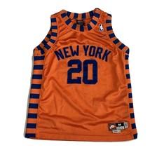 Allan Houston Nike Rewind Knicks Swingman Retro Orange Jersey Youth Medi... - $39.99