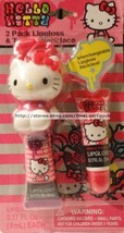 HELLO KITTY* by SANRIO 2pc INTERCHANGEABLE Lipgloss+TOPPER NECKLACE Cher... - $9.89