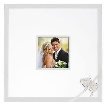 Lenox True Love Wedding Guest Autograph Frame Photo Picture Silver Heart... - $45.54