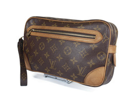 LOUIS VUITTON Marly Dragonne Monogram Canvas Leather Pochette Clutch Bag... - $169.00