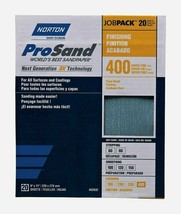 Norton ProSand SANDPAPER SHEETS 20 ct Finishing 400 Grit Super Fine 0263... - $15.99