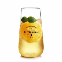 ZDZDZ Clear Glass Water Cup - 400ml/13.5oz Borosilicate Glass Water Cup ... - $14.90