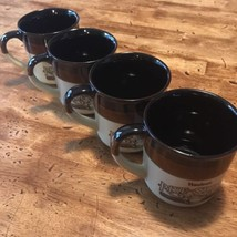 SET OF 4 VINTAGE 1989 HARDEE'S  RISE AND SHINE BISCUITS COFFEE MUGS CUPS - $23.36